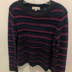Striped White and Warren sweater